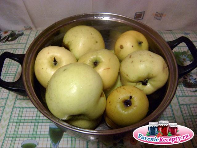 Яблочный компот, пошаговый рецепт с фото