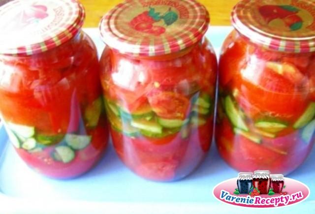 консервирование салатов из огурцов рецепты
