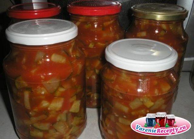 Салат из огурцов в томате на зиму рецепты пальчики оближешь